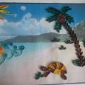 «Лето, море, солнце, пляж…» Детский квиллинг.