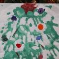 Конспект занятия по рисованию во второй младшей группе. «Групповая Новогодняя ёлочка»