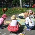 Украшаем детский сад! Рисунки на асфальте
