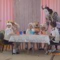 Представление по сказке «Волк и семеро козлят», совместно с родителями