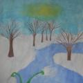 Отчёт с выставки детских рисунков о весне