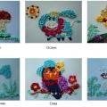 Разноцветные шарики. Поделки из бумажных комочков