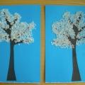 «Зимнее дерево». Работы в разных техниках детей младшей группы