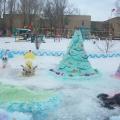 Снежный городок в нашем детском саду «Ручеек»