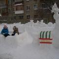 «Зимняя сказка». Оформление зимних участков детского сада.