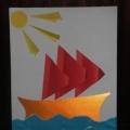 Аппликация (подарок папе) «Кораблик»