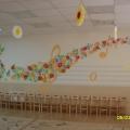 Оформление музыкального зала к празднику 8 марта