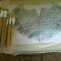 Роспись матрешки и её украшение с помощью кружева