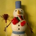 «Снеговик». Папье-маше. Коллективная работа