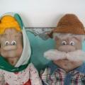 Куклы из бросового материала «Бабушка Арина и дед Егор»