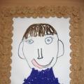 Рисование нитками на тему: «Портрет любимого папы»