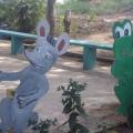 Оформление участка сельского детского сада летом