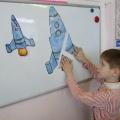 Непосредственно образовательная деятельность по математике в средней группе детского сада «Космическое путешествие»