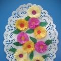 Аппликация на салфетке— «Цветочная полянка».