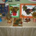 «Осенние фантазии»— творческие работы семей воспитанников, аппликация из листьев и сухоцветов