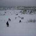 «Катание с горы». Совместный зимний отдых с родителями и детьми подготовительной группы