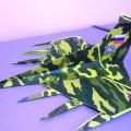«Военный самолёт» в технике «норигами»