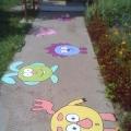 Оформление территории детского сада летом