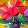 Поделки из бумаги «Букет цветов» (оригами)