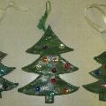 «Новогодние елочки из теста для лесной красавицы»