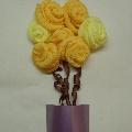 Мастер-класс. Розы из гофротрубочек.
