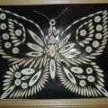 Аппликация из срезов веточек: «Бабочка»