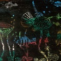 «В морских глубинах» (наш граттаж)