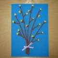Праздничная открытка с вербой