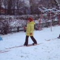 Обучение ходьбе на лыжах