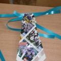 Галстук (оригами) в подарок (мастер-класс)