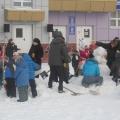 Выставка-конкурс снежных скульптур «Влюблённый снеговик»