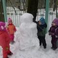 Наши первые (и последние) снеговики за эту зиму.