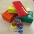 Кубики из бросового материала
