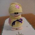 Снеговичок. Новогодняя игрушка из носочка МК.