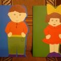 Пригласительные открытки: девочка и мальчик