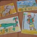 Детские рисунки по творчеству К. И. Чуковского