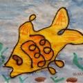 Нетрадиционное рисование веревочкой для детей дошкольного возраста.
