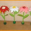 Цветок в подарок милым женщинам на 8 марта! Мастер-класс.