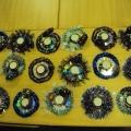 Новогодние подсвечники из дисков