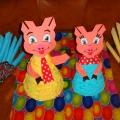 Поросята Степаша и Маша— игрушки призы для воспитания культуры еды и привития культурно-гигиенических навыков.