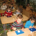 «Веселая снежная баба»— рисунки детей.