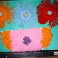 Цветы из ниток. Ручной труд для детей старшей группы.