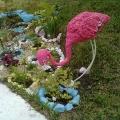 Розовый фламинго из монтажной пены. Мастер-класс.
