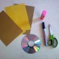 Мастер-класс «Золотая рыбка» (из cd диска и бумаги).
