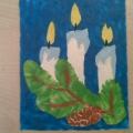 Рождественская открытка. Пластилинография
