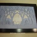 Картина в технике бумажный туннель