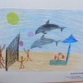 Рисунки на тему «В мечтах о летнем отдыхе» с детьми подготовительной группы.