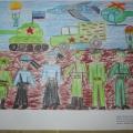 Участие в муниципальном конкурсе рисунков «Служу Отечеству!» в рамках II фестиваля «Созвездие».