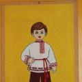 Мальчик в мордовском национальном костюме