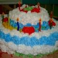 Коллективная работа из салфеток «Пышный торт к празднику»